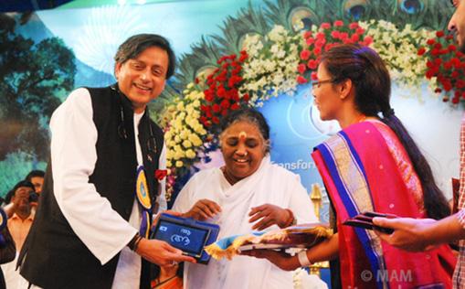 Shashi Tharoor launching Amrita RITE Project